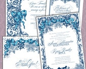 Victoriana Snow Letterpress Wedding Suite LPVIC-04
