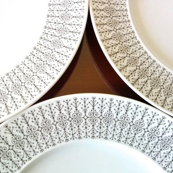 3 x rosenthal studio line dinner plates tapio wirkkala