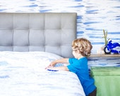 Abstract Wallpaper, Black and Blue Wallpaper, Kids Wallpaper, Wall sticker, Self-Adhesive Wallpaper, Kids Décor. Brush Stroke Wallpaper