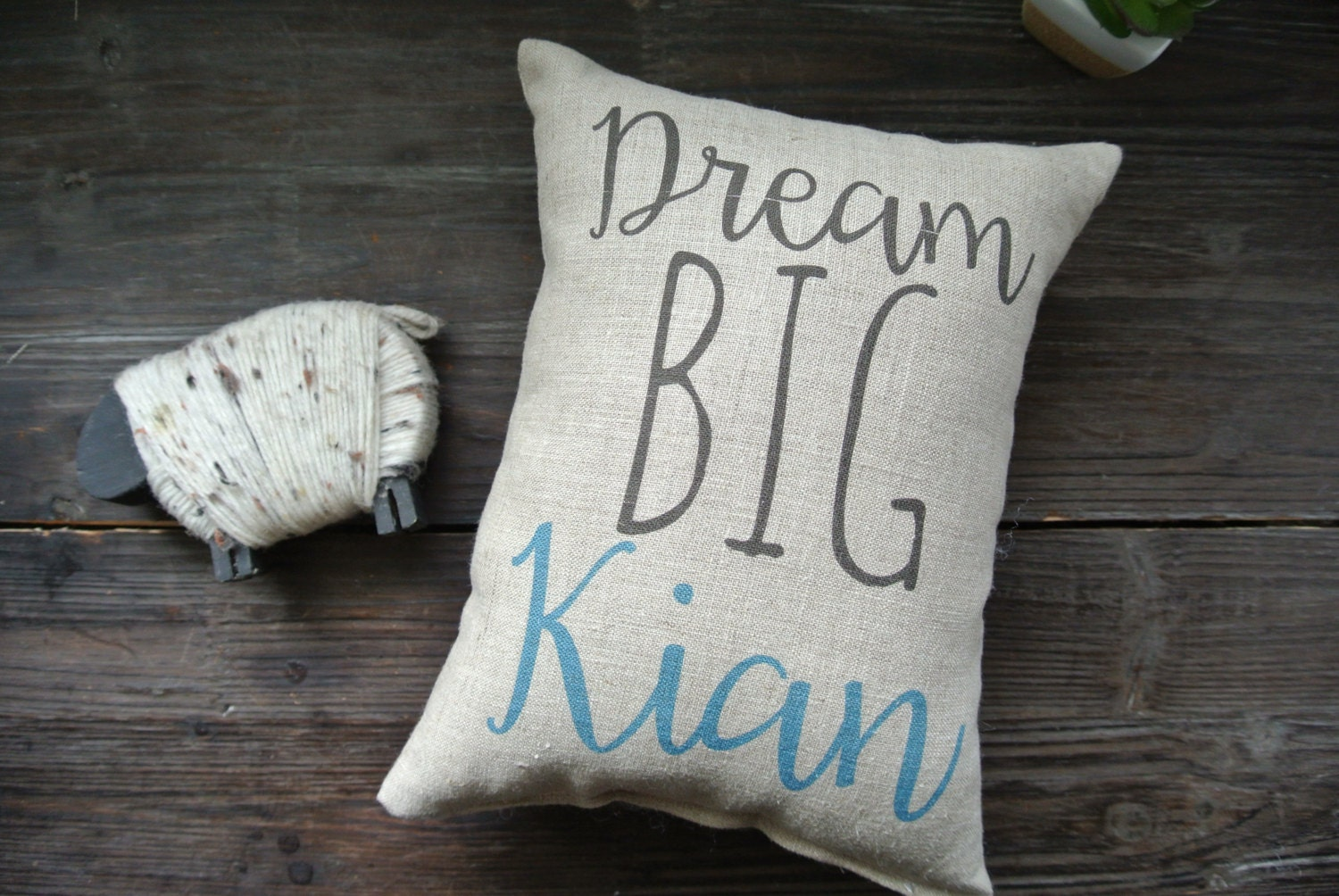 dream big quote personalized name pillow quote pillow name. Black Bedroom Furniture Sets. Home Design Ideas