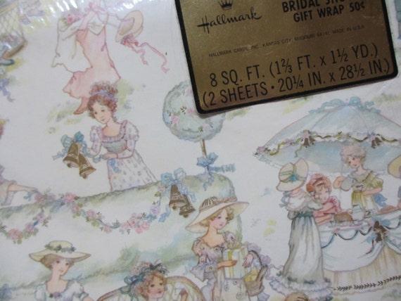 Wedding Gift Wrapping: Vtg Bridal Shower Gift Wrap / Wedding Bride / Unopened MIP NOS