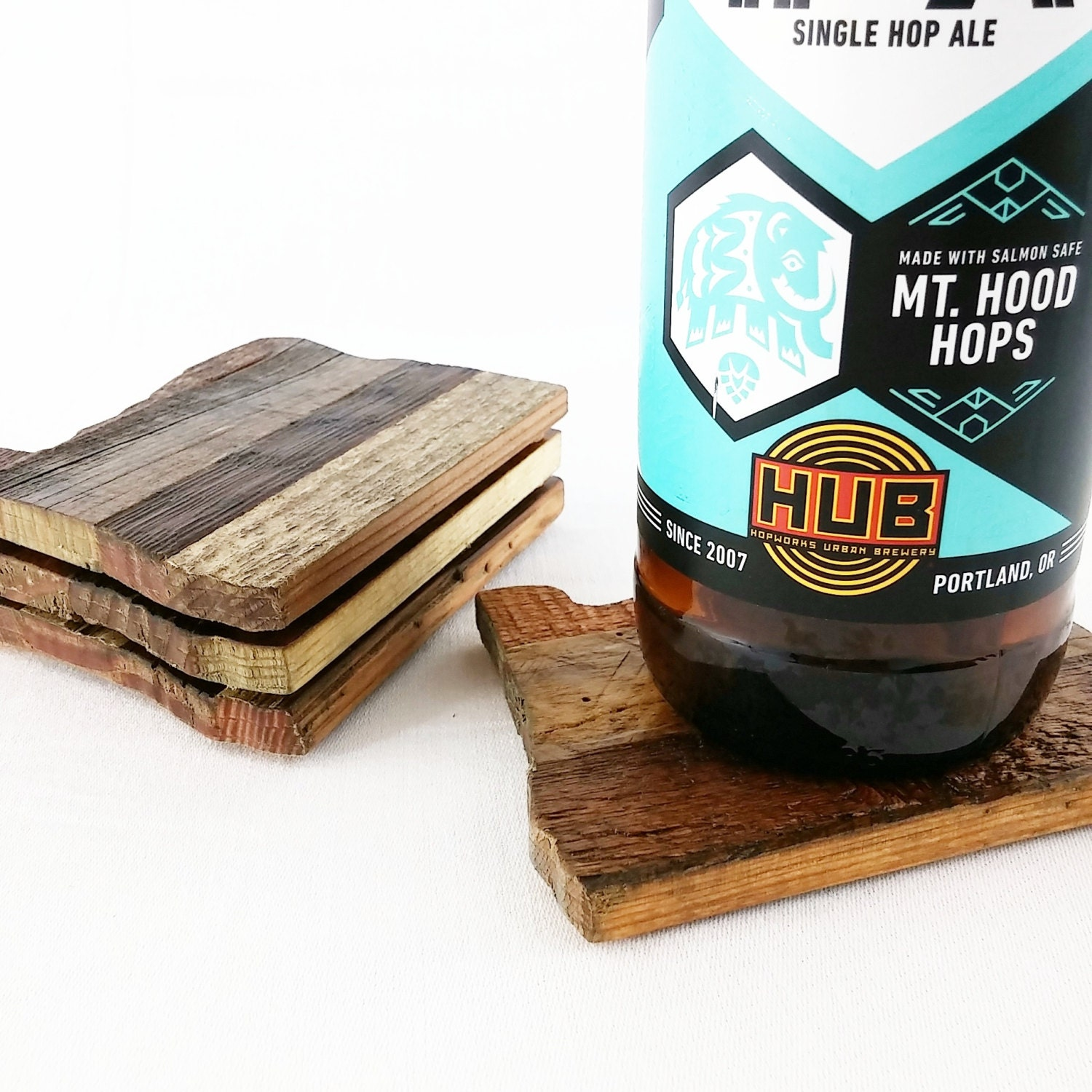 Reclaimed Wood Coasters Set Of 4 Oregon
