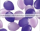 "5"" MINI latex BALLOONS (6 pc) -- Pearl Dark Purple, Violet, Lilac & Lavender -- pif.pay it forward.aok.act of kindness.free.clearance sale"
