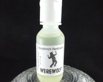 WEREWOLF Vegan Beard Oil, Nut Free .5 oz Beard Conditioner, Twilight Woods Type, Beard Serum for Men, Citrus Cedar Vetiver, Pepper Patchouli