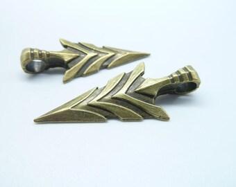 8pcs Triangle Arrow Charms, Antique BronzeTriangle Sword charm, Triangle Shield Charms, Jewelry Making 20x46mm C8036