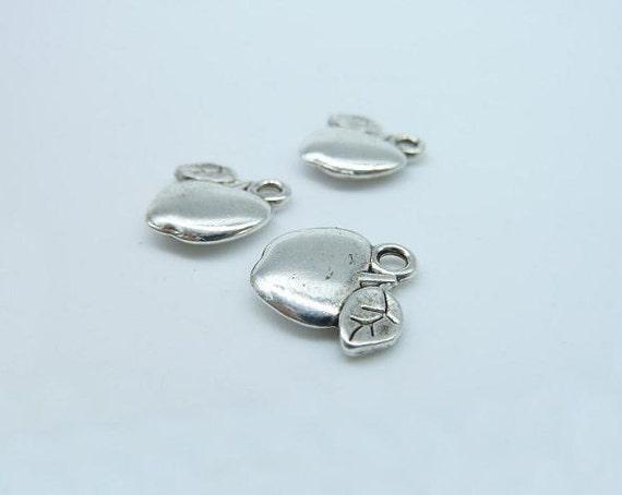 40pcs 11X14mm Antique Silver Mini Apple Charm Pendant C3002