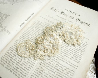 bridal lace hair clip - YOU ARE MINE - bridal fascinator - bridal hair - wedding - ivory - champagne