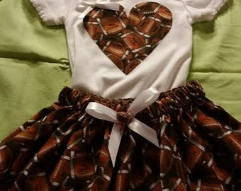 Baby and Toddler Girl  football outfit