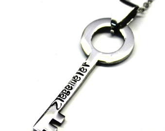 Personalized key necklace stainless steel skelton key jewelry custom necklace