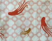 FIRST Edition - Heather Ross Mendocino Fabric - Off White Giant Octopi Fabric - Heather Ross Octopus Fabric - 1/2 yard