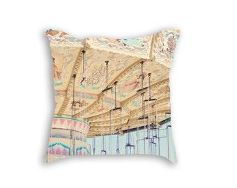 Carnival Pillow, Carnival Decor, Pastel Nursery Pillow, Carnival Nursery Decor, Little Girl Bedding, Carnival Art Pillow, Pastel Pillow