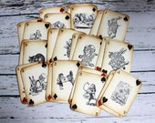 RESERVED FOR MELISSA - Alice in Wonderland Vintage Inspired Playing Cards
