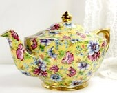 Sophie Chintz - James Sadler Transferware Yellow Floral Teapot 11633