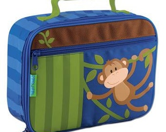 Stephen Joseph Monkey lunch box personalized, monogrammed, lunch bag