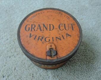 Vintage Godfrey Phillips Ltd Grand Cit Virginia tobacco tin