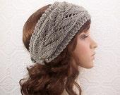 Hand knit headband, headwrap, earwarmer - womens accessories Sandy Coastal Designs ready to ship