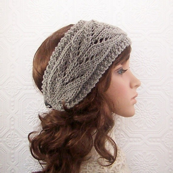 Hand knit headband, boho headwrap, earwarmer - womens accessories gift for her Sandy Coastal Designs ready to ship