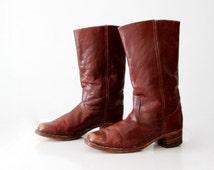 vintage Frye boots, brown campus boots men's size 12