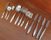 LASTING ROSE stainless silverware vintage flatware Oneida BIN 6