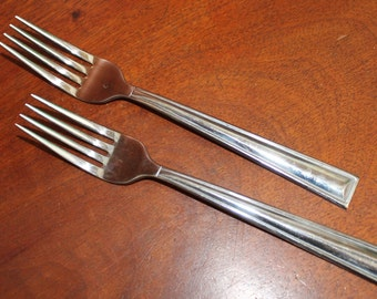 GORHAM Stainless Spoons in Satin pattern and simple design stainless flatware vintage silverware BIN 12