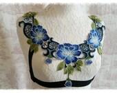 Beautiful Flower Harness  Any Size.  CUSTOM MADE