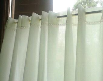 custom made Linen Café Curtain
