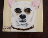 Chihuahua Lovers!  Your toy puppy on a handpainted coaster for any place in your home or office.