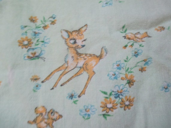Super cute nursery print fabric baby deer apron by for Cute baby fabric prints
