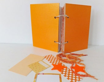 Smash Book, Mixed Paper Journal. Eco-friendly Orange Journal. Rescued Paper Notebook. Recycled. Upcycled Art Journal