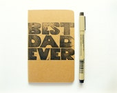 fathers day gift, moleskine notebook - best dad ever, from daughter, from son, from kids, modern, gifts for dad, pocket notebook for father