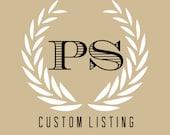 Custom Listing: Material Samples