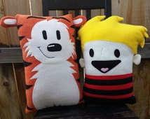 Calvin and Hobbes, pillow, plush, cushion, gift