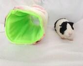 Guinea pig bed, guinea pig tunnel, guinea pig hideout, rat, ferret, chinchilla, small pet bed, guinea pigs cozy, guinea pig pocket