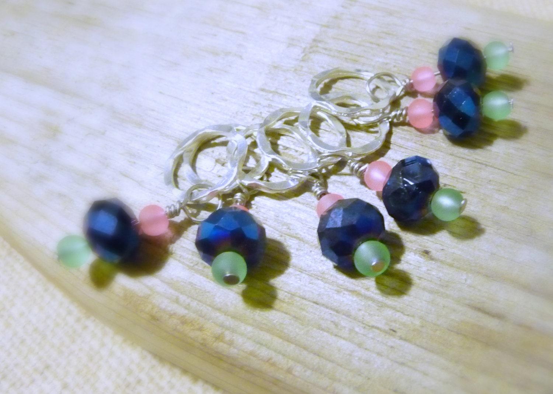 Knitting Markers Beads : Glass beaded stitch markers knitting