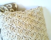 Chunky Crochet Shell Accent Toss Throw Pillow Cover - Made to Order
