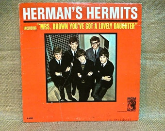 HERMANS HERMITS - Introducing Herman's Hermits - 1965 Vintage Vinyl Record Album