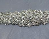 silver Wedding belt Wedding  Rhinestones sash bridal belt  bridal sash, Crystal Rhinestone Belt