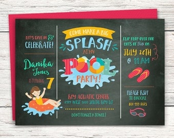 Pool Party Invitation - Digital