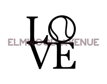 Tennis LOVE decal