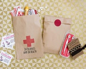 """Bachelorette Recovery Kit - """"In Sickness and in Health"""" - Paper Bag Recovery Kits"""