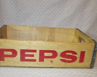 Vintage Wood PEPSI Crate Cola Tray Jonesboro Arkansas
