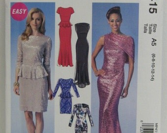 Party, Prom or Bridesmaid's Dress Pattern, Create It Mix and Match Pattern Pieces, Mc Call's MP 415, Stretch Gown Pattern, SZ 6 through 14