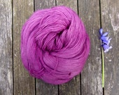 Pink Lace Yarn, Hand Dyed Singles Laceweight Yarn, Falkland Merino yarn, British wool, 100g