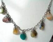 Vintage Necklace Agates