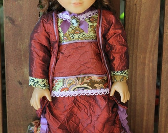 1870's style 2 piece walking suit for 18in American girl dolls