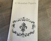 Fleur De Lis Tea Towels - European - French - Houseware - Kitchen - Gift