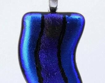Blue wave pendant necklace.