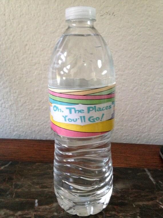 Water Bottle Drink Labels