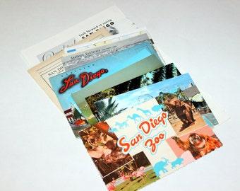 San Diego, California - United States Vintage Travel Collage Kit
