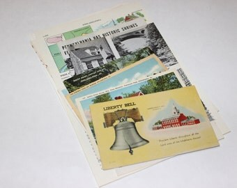 Philadelphia Pennsylvania - United States Vintage Travel Collage Kit